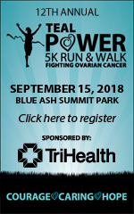 Teal Power 5k Run and Walk, September 15, 2018