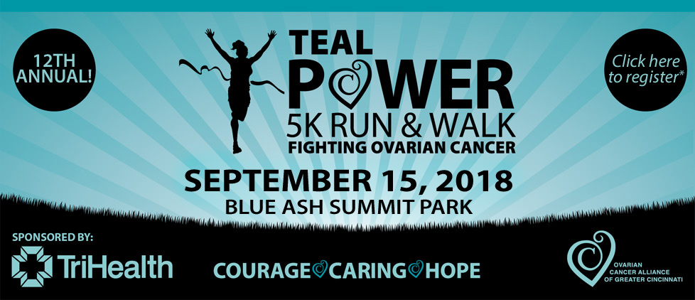 Teal Power 5k Run and Walk September 15, 2018